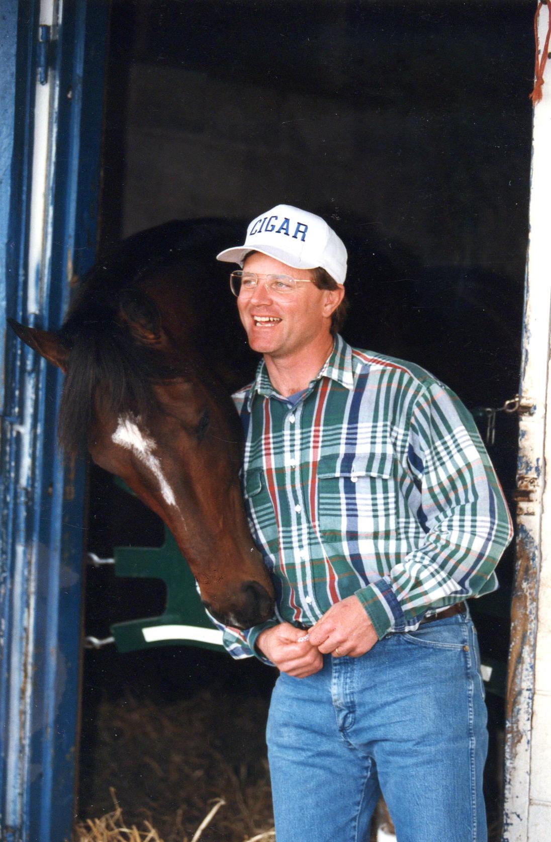 Bill Mott and Cigar at Payson Park, February 1996 (Barbara D. Livingston)