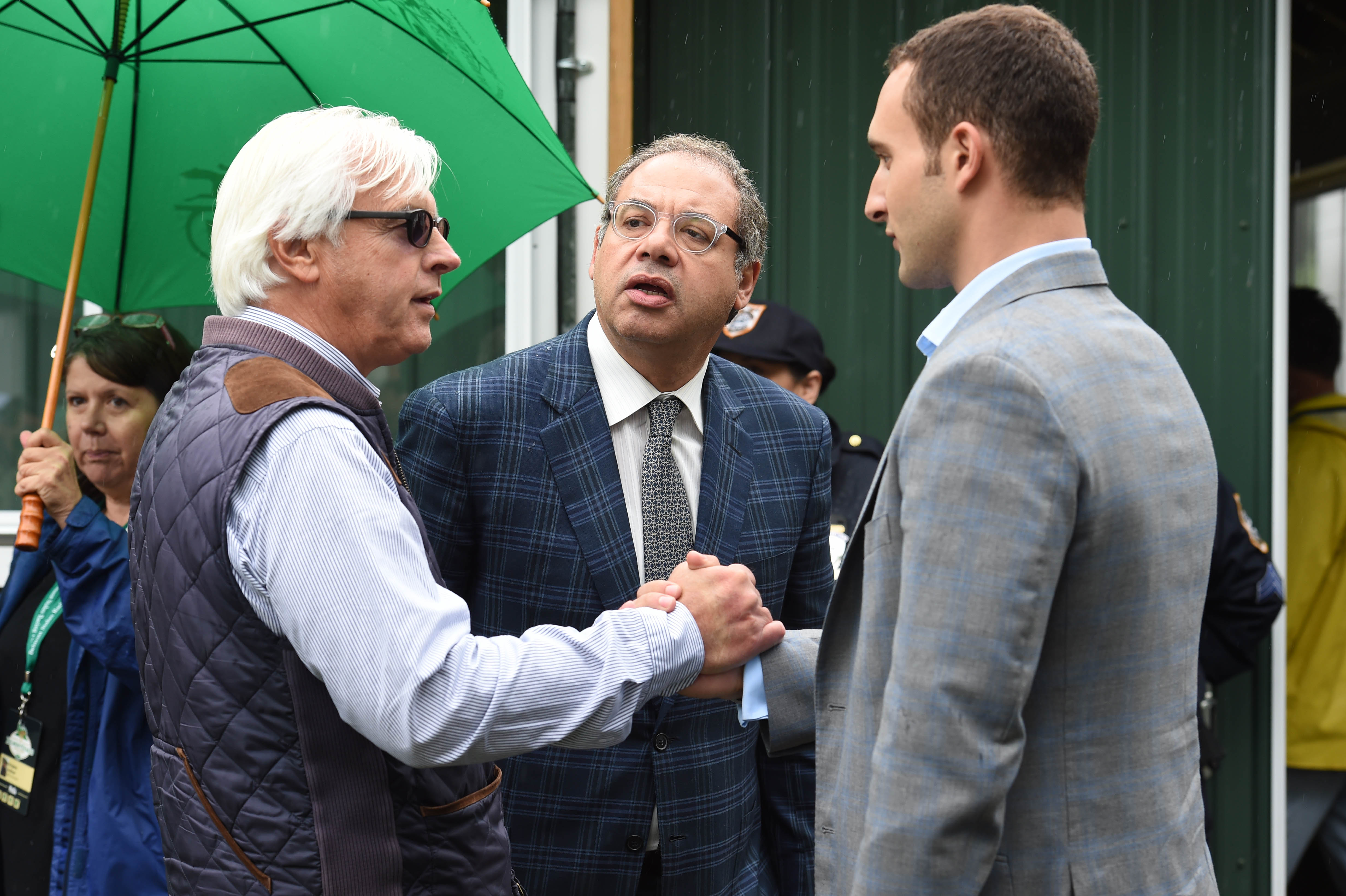 Bob Baffert with Ahmed and Justin Zayat (NYRA)