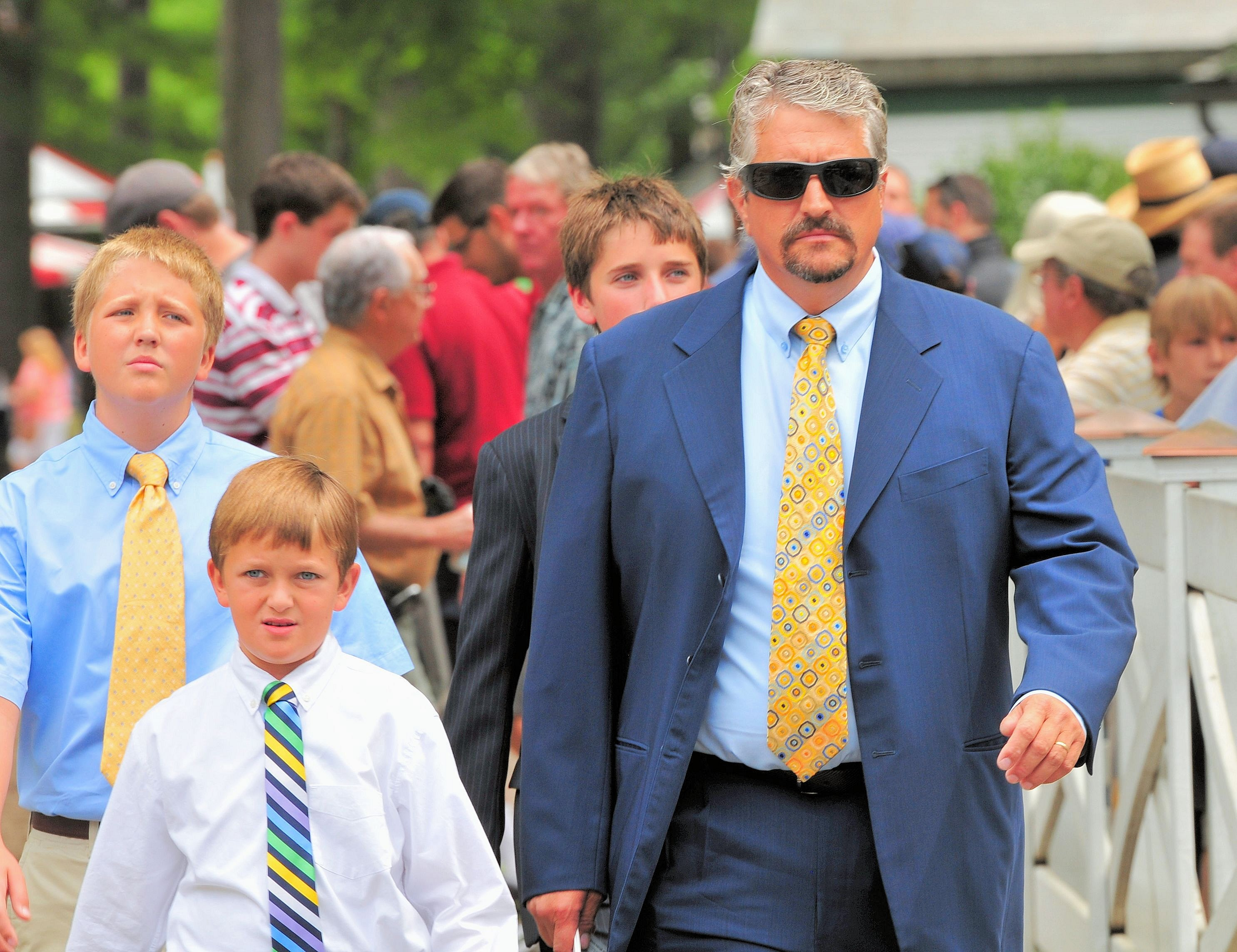 Steve Asmussen at Saratoga (Brien Bouyea)