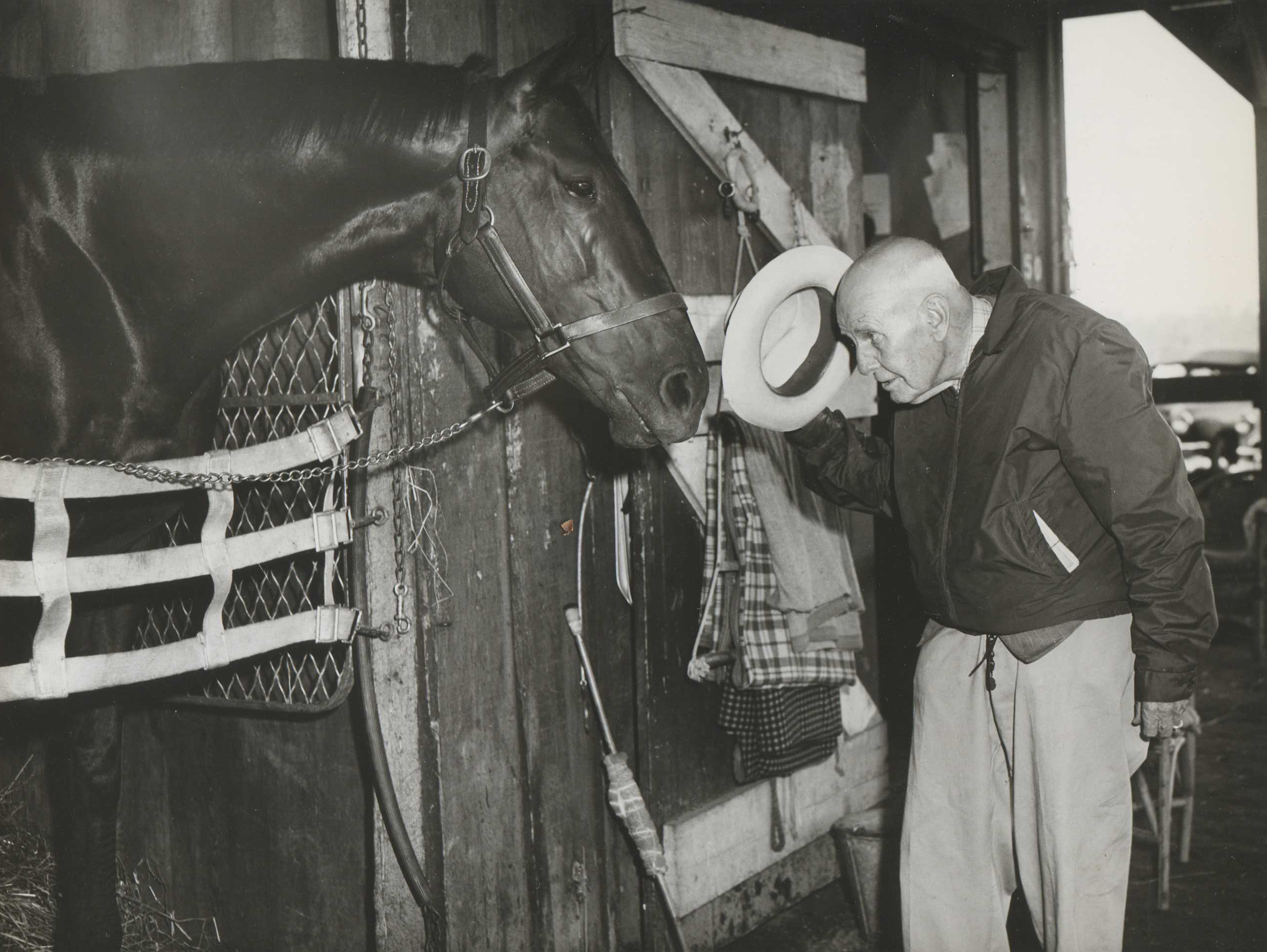 """James """"Sunny Jim"""" Fitzsimmons and Bold Ruler (Museum Collection)"""