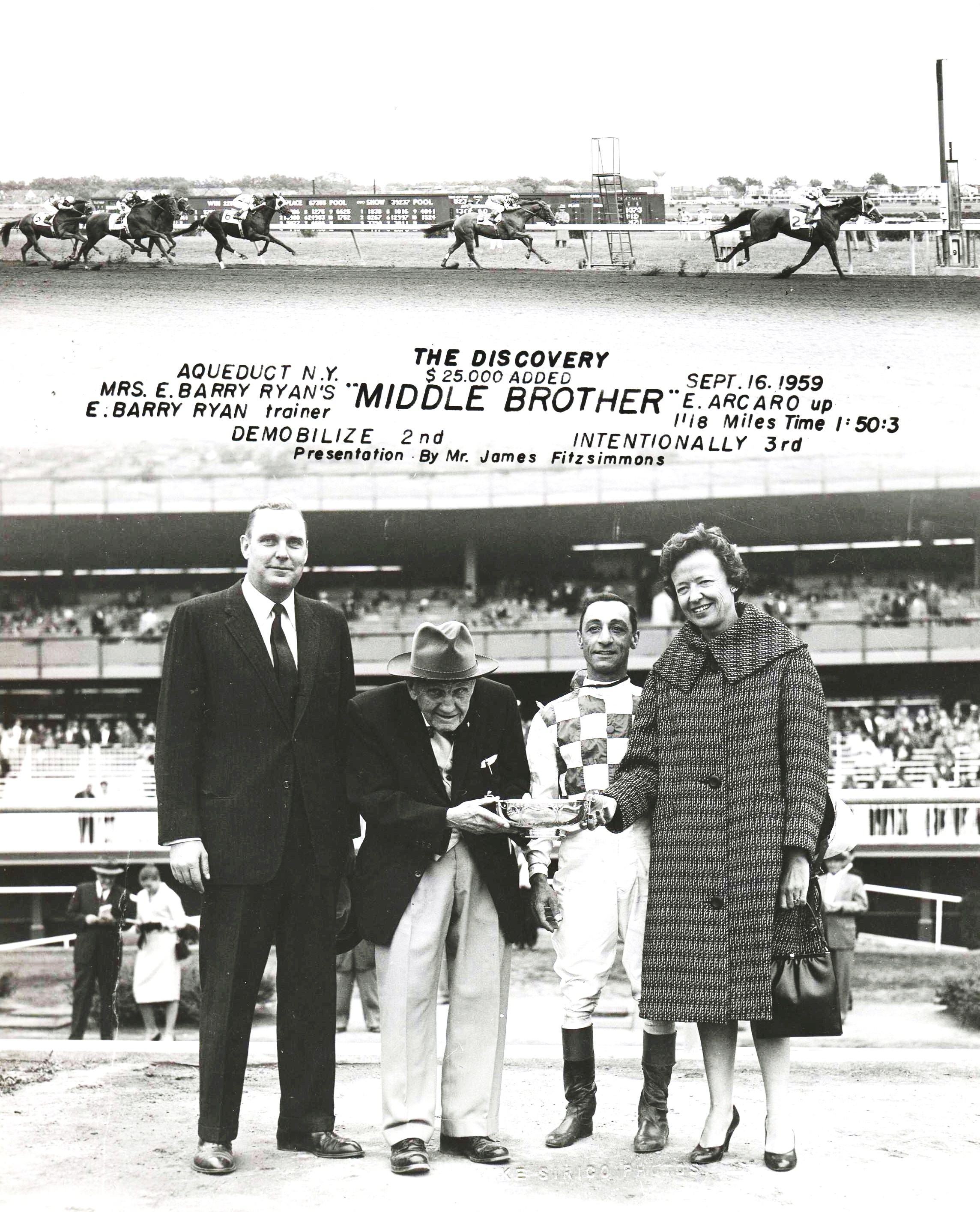 Win composite, 1959 Discovery Stakes (NYRA)