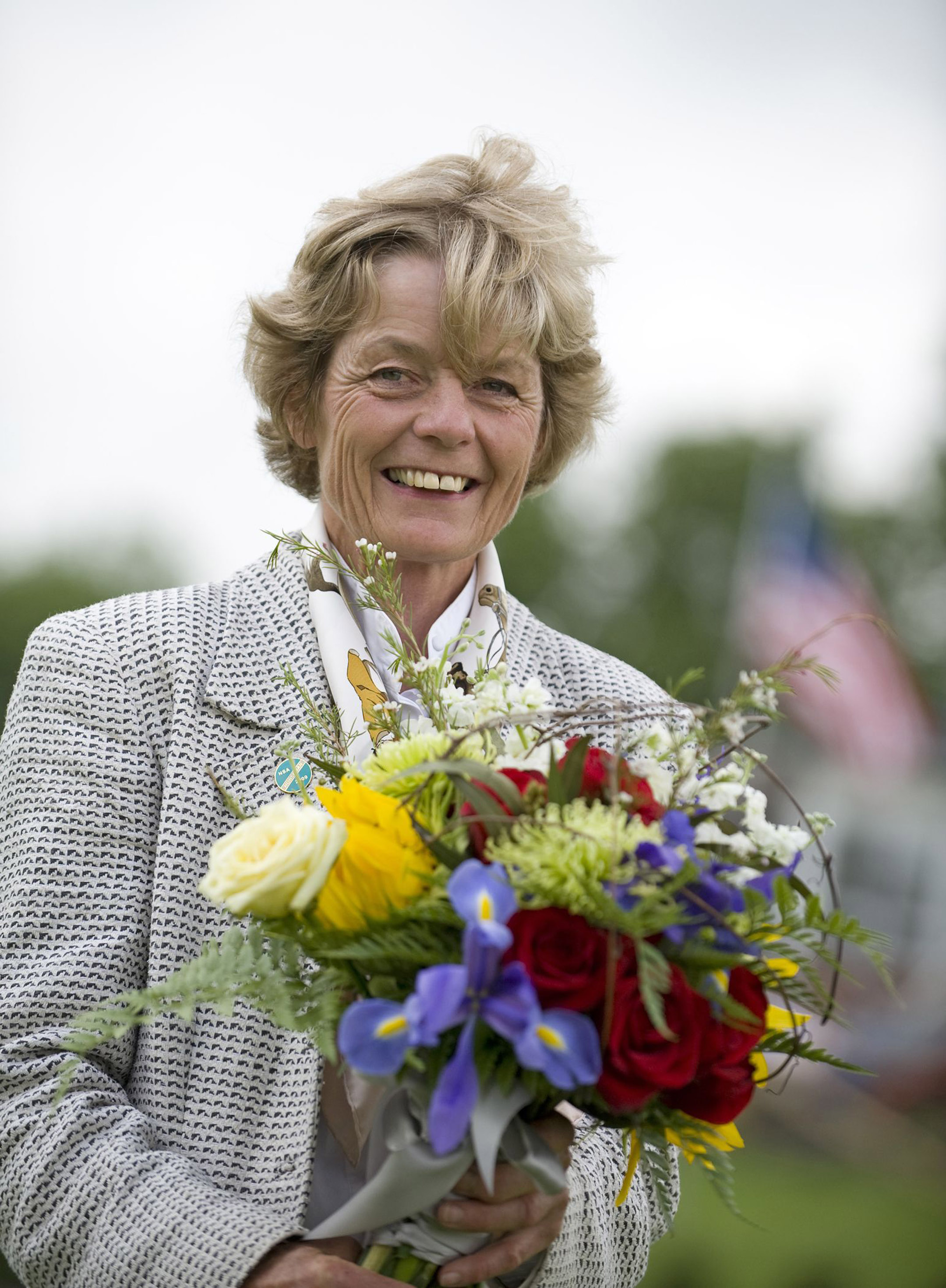 Janet Elliot honored at the Radnor Races (Tod Marks)