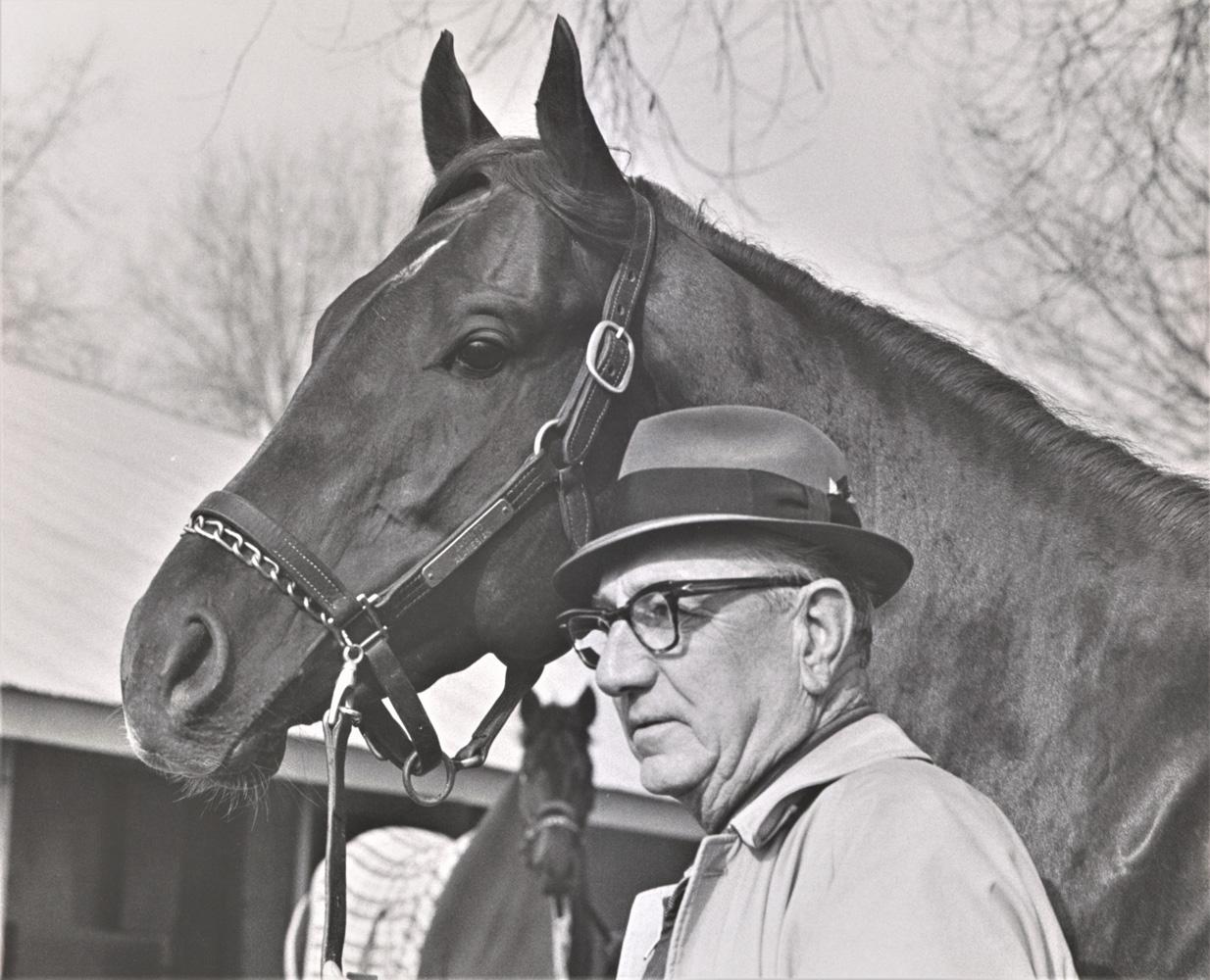 Henry Forrest with Jackal, undated (Keeneland Association)