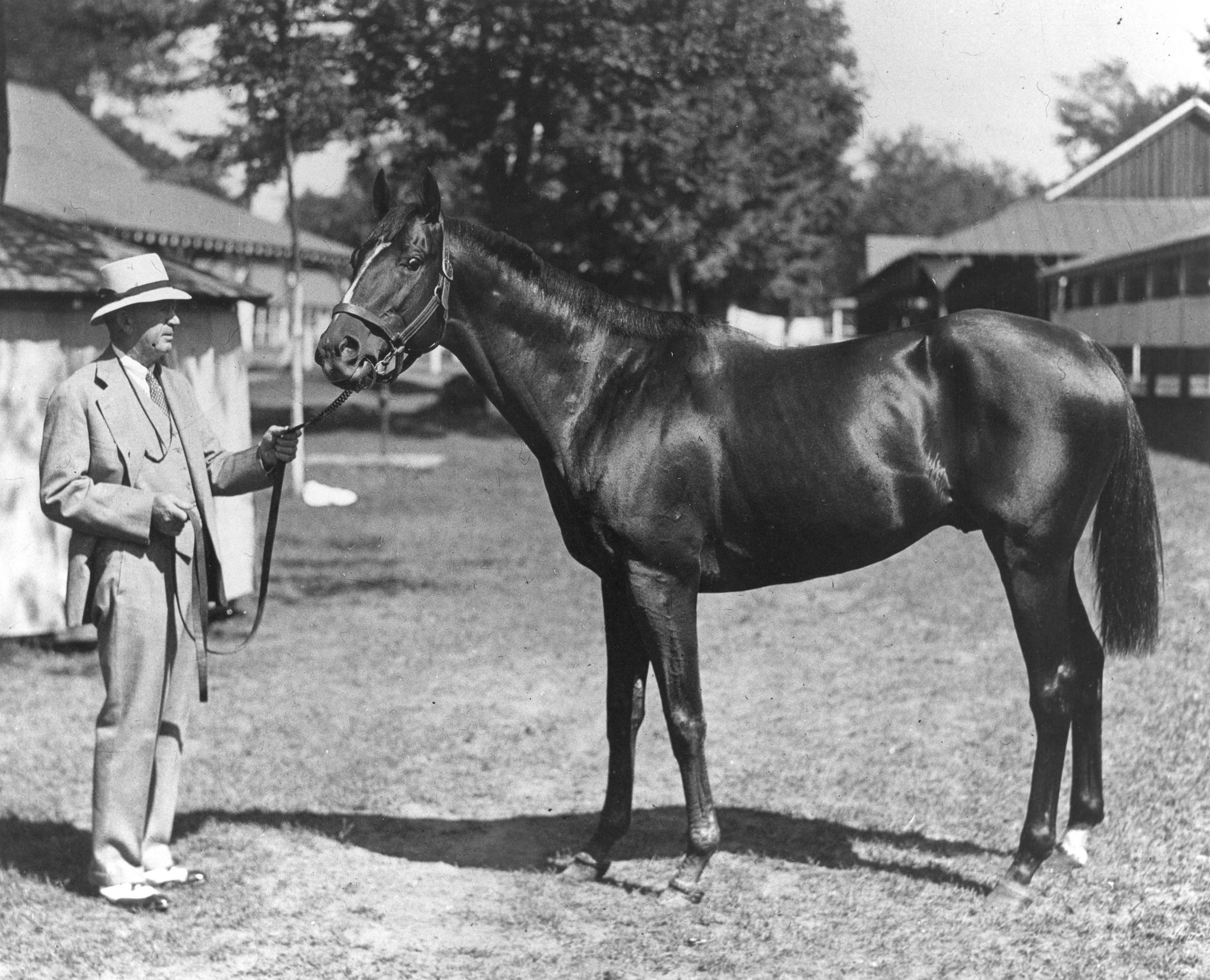 Thomas J. Healey and Equipoise at Saratoga (Keeneland Library Cook Collection/Museum Collection)