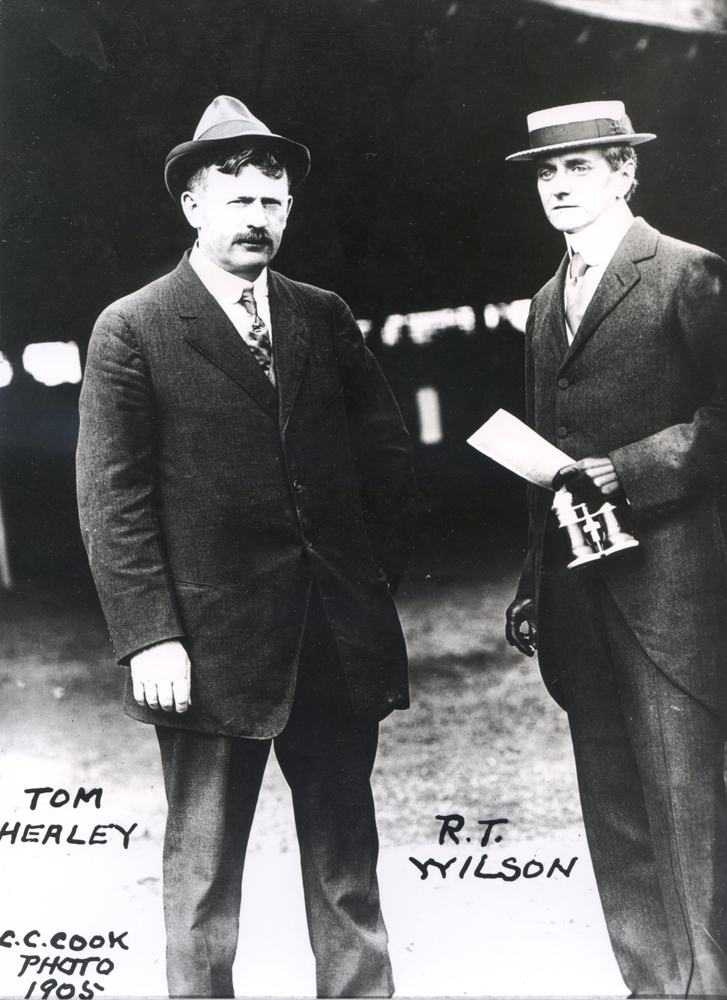 Tom Healey and R. T. Wilson in 1905 (C. C. Cook/Museum Collection)