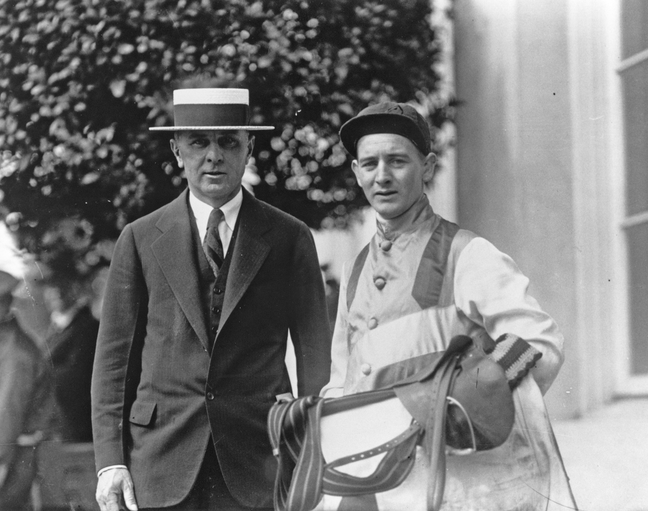 Trainer Max Hirsch and jockey Clarence Kummer (Keeneland Library Cook Collection/Museum Collection)
