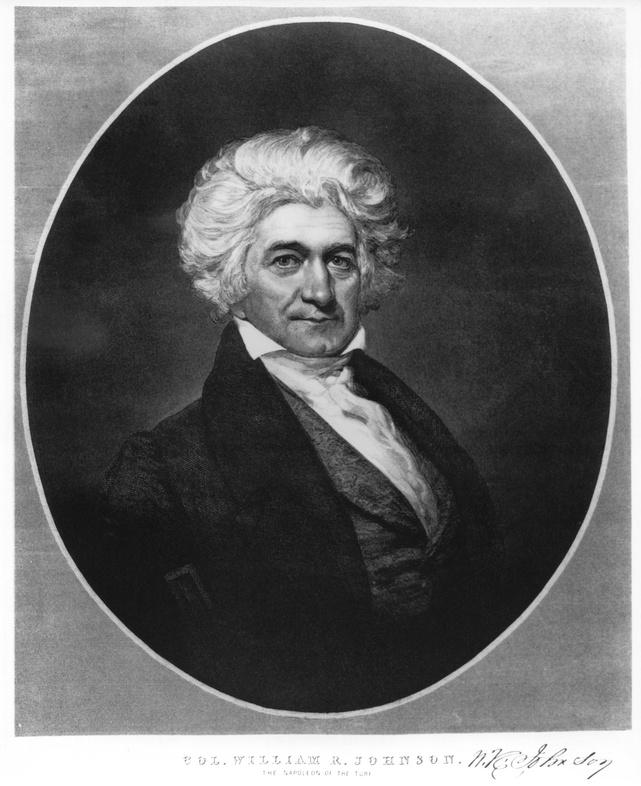 Portrait of William R. Johnson (Keeneland Library Collection/Museum Collection)