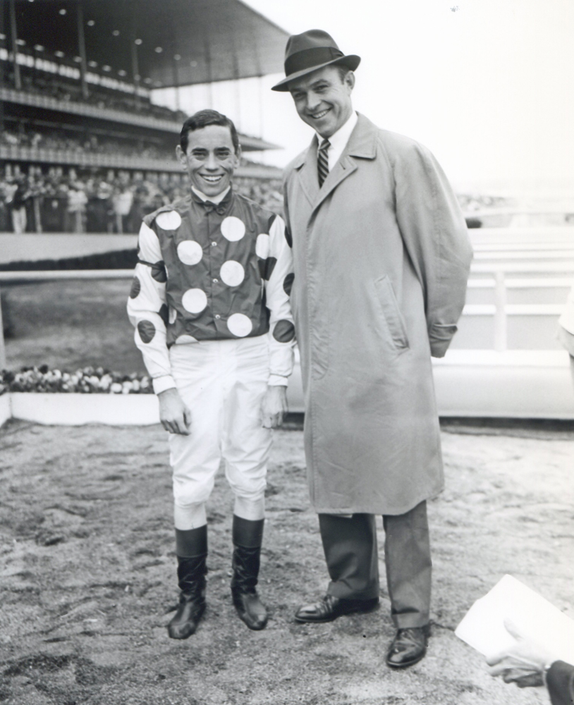 John Rotz and T. J. Kelly after their 1961 Wood Memorial victory at Aqueduct (Keeneland Library Morgan Collection/Museum Collection)