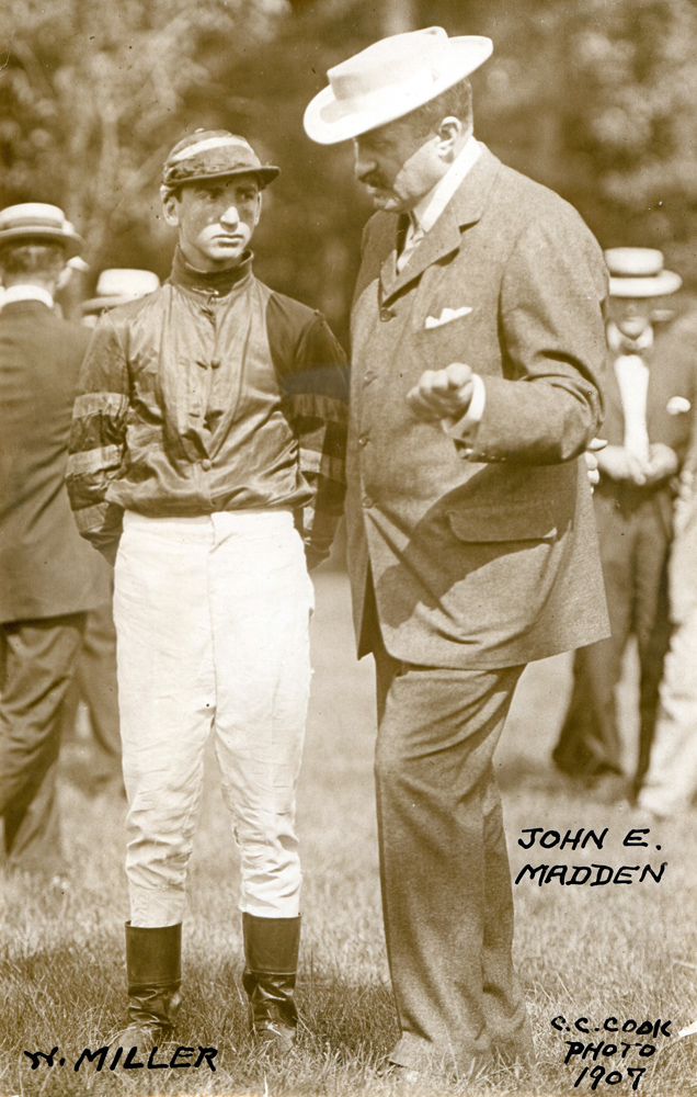 Jockey Walter Miller and trainer John E. Madden in 1907 (C. C. Cook/Museum Collection)