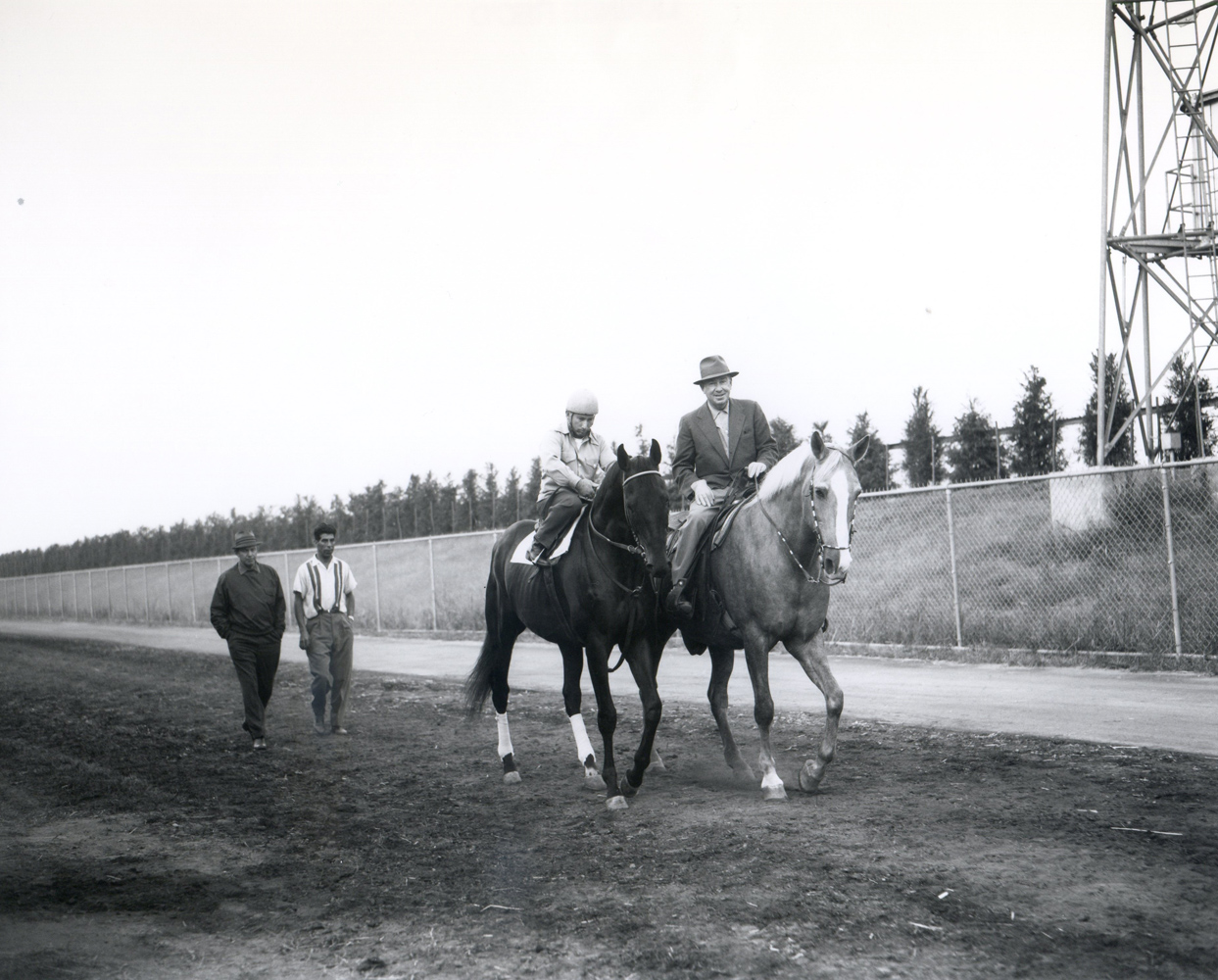 William Molter joins Round Table on the track for training (Keeneland Library Morgan Collection/Museum Collection)