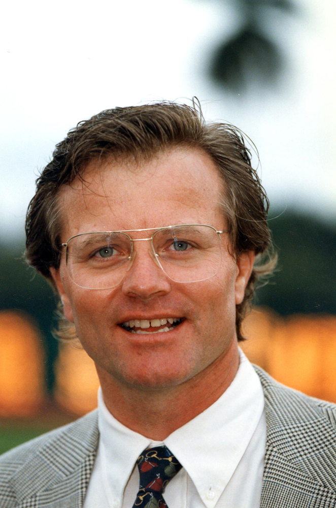Bill Mott at Gulfstream Park, February 1996 (Barbara D. Livingston)