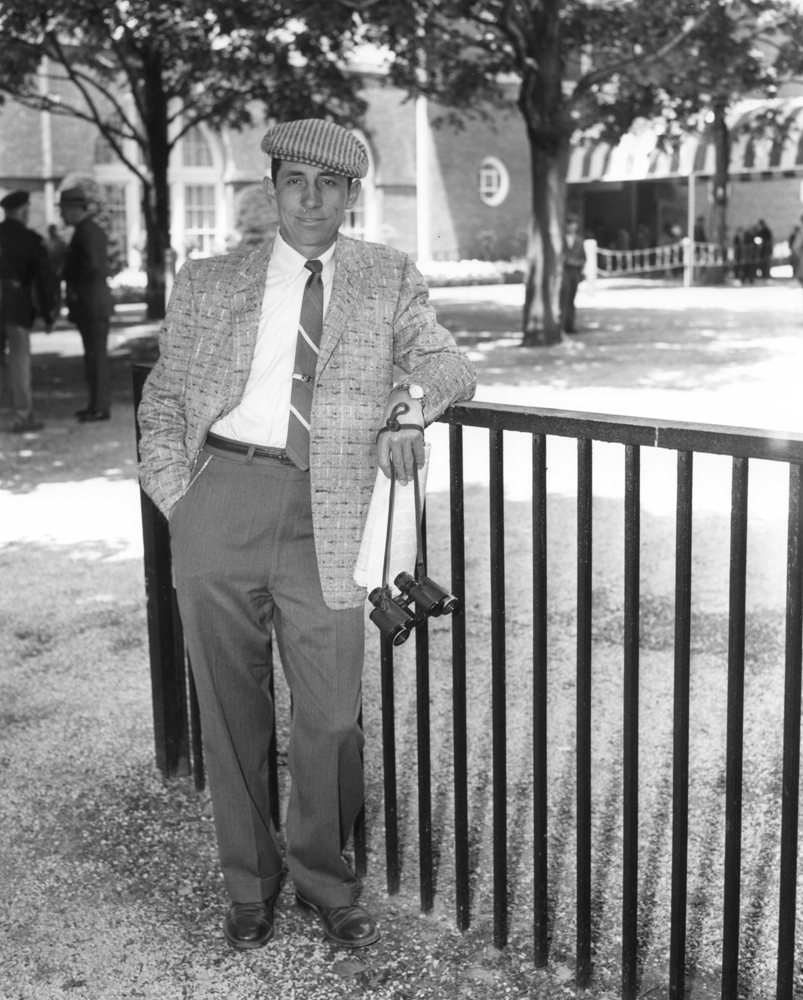 John Nerud at Belmont Park, May 1957 (Keeneland Library Morgan Collection/Museum Collection)