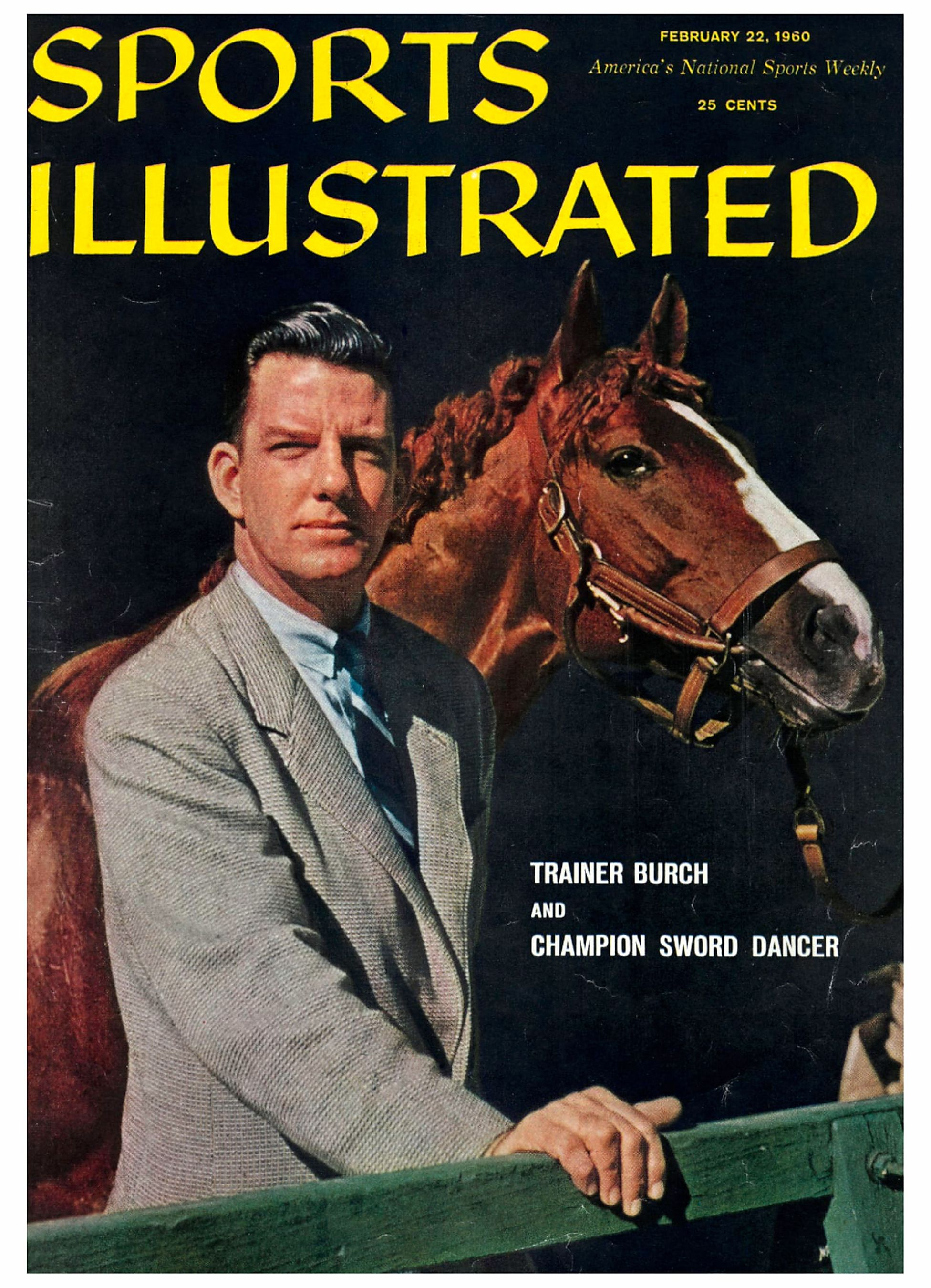 "Elliott Burch and Sword Dancer on the cover of ""Sports Illustrated"" in 1960 (Sports Illustrated)"