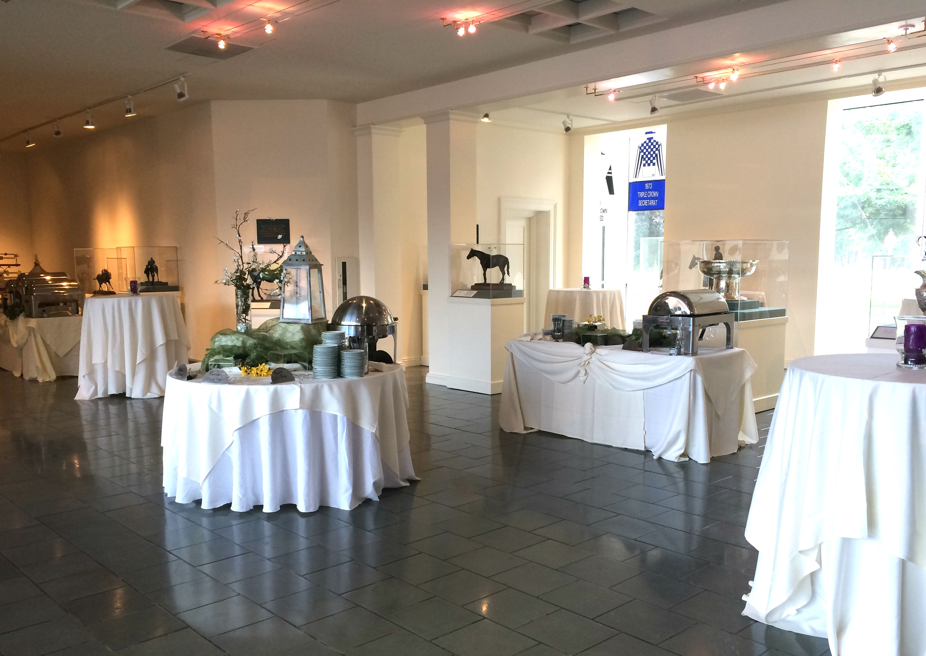 Sculpture gallery wedding reception at the museum